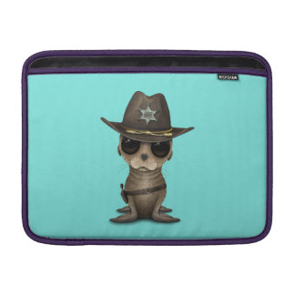 Cute Baby Sea Lion Sheriff Sleeve For MacBook Air