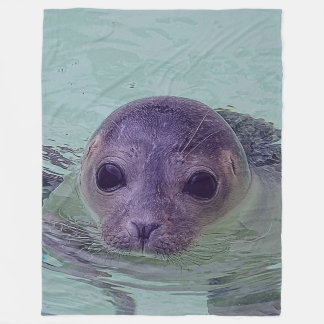 Cute Baby Seal Fleece Blanket