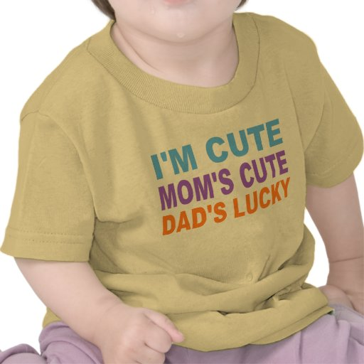 CUTE BABY SHIRT, DAD'S LUCKY TSHIRTS