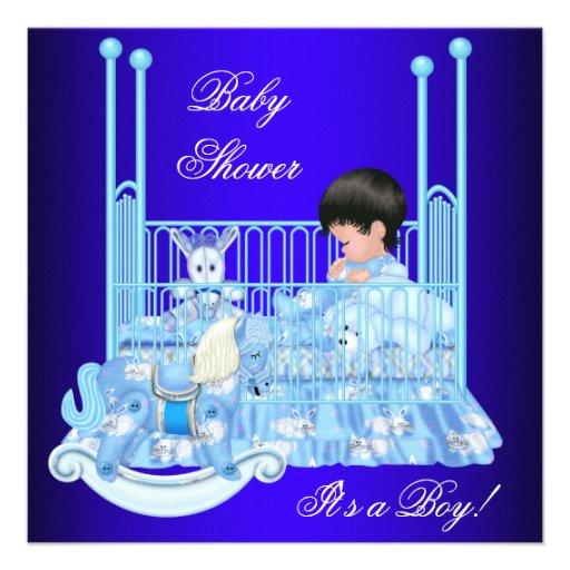 royal blue baby shower invitation party invitations ideas