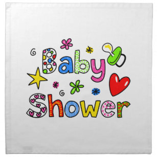 Cute Baby Shower Greeting Text Expression Napkin