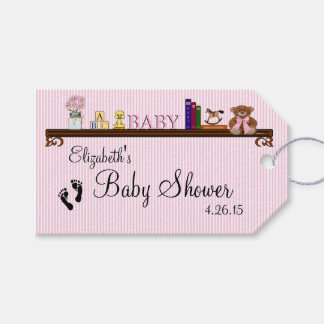 Cute Baby Shower Guest Favor Pink Thank You Gift Tags