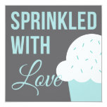 Cute Baby Shower | Sprinkled With Love 13 Cm X 13 Cm Square Invitation Card