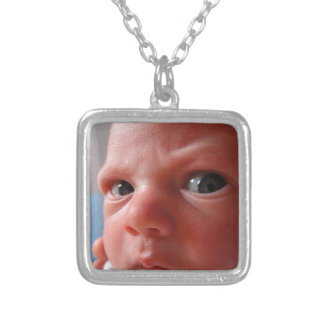 Cute baby silver plated necklace
