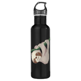 Cute Baby Sloth on a Branch 710 Ml Water Bottle