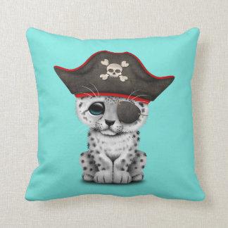 Cute Baby Snow Leopard Cub Pirate Cushion