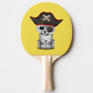 Cute Baby Snow Leopard Cub Pirate Ping Pong Paddle