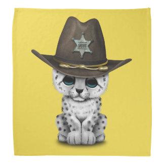 Cute Baby Snow Leopard Cub Sheriff Bandana