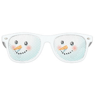 Cute Baby-Snowman With Rosy Cheeks Retro Sunglasses