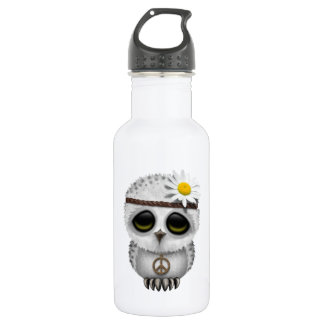 Cute Baby Snowy Owl Hippie 532 Ml Water Bottle