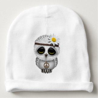 Cute Baby Snowy Owl Hippie Baby Beanie