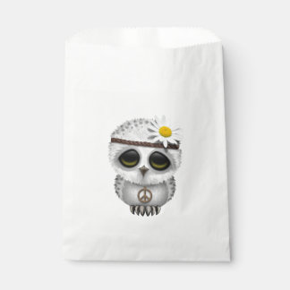 Cute Baby Snowy Owl Hippie Favour Bag