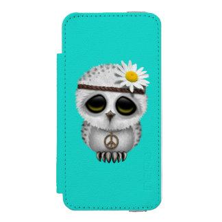 Cute Baby Snowy Owl Hippie Incipio Watson™ iPhone 5 Wallet Case