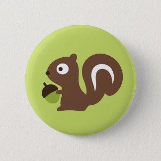 Cute Baby Squirrel Design 6 Cm Round Badge