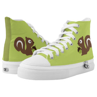Cute Baby Squirrel Design High Tops