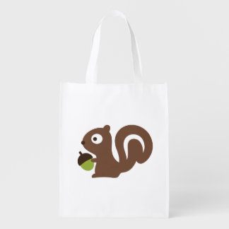 Cute Baby Squirrel Design Reusable Grocery Bag
