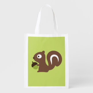 Cute Baby Squirrel Design Reusable Grocery Bag