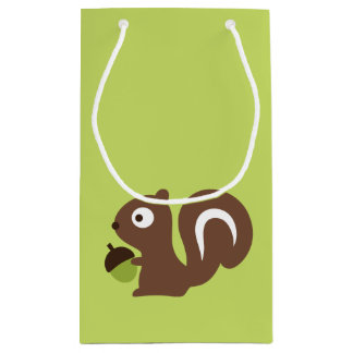 Cute Baby Squirrel Design Small Gift Bag