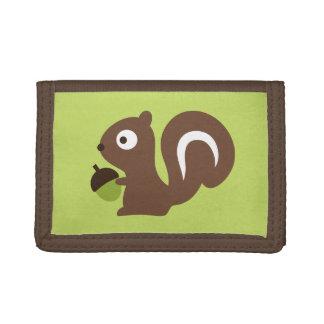 Cute Baby Squirrel Design Tri-fold Wallets