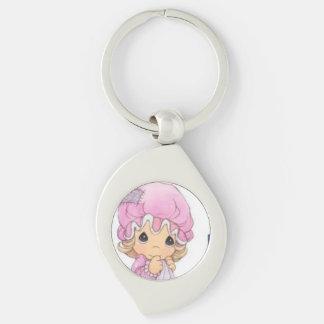 Cute Baby Swirl Metal Keychain Silver-Colored Swirl Key Ring
