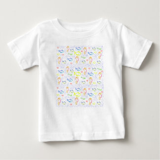 Cute Baby Tee Shirt Fish Print
