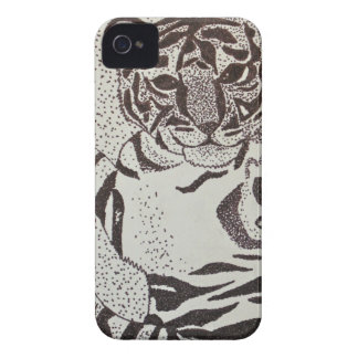 Cute Baby Tiger Cell Phone Cover iPhone 4 Case-Mate Cases