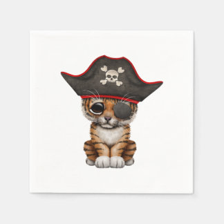 Cute Baby Tiger Cub Pirate Disposable Napkin