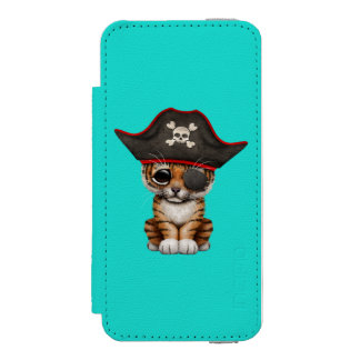 Cute Baby Tiger Cub Pirate Incipio Watson™ iPhone 5 Wallet Case