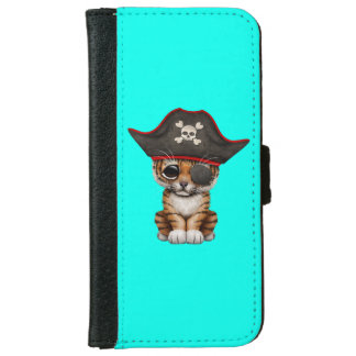 Cute Baby Tiger Cub Pirate iPhone 6 Wallet Case