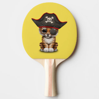 Cute Baby Tiger Cub Pirate Ping Pong Paddle
