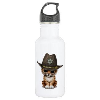 Cute Baby Tiger Cub Sheriff 532 Ml Water Bottle