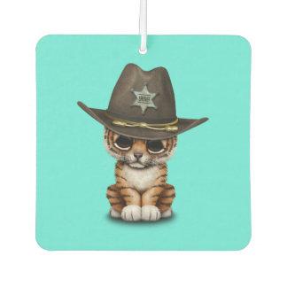 Cute Baby Tiger Cub Sheriff Car Air Freshener