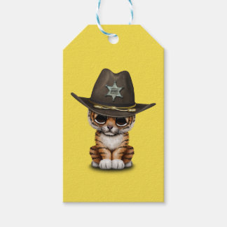 Cute Baby Tiger Cub Sheriff Gift Tags