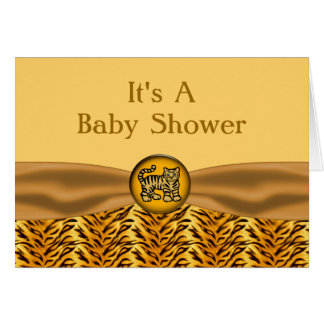 Cute Baby Tiger Stripes Baby Shower Card