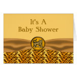 Cute Baby Tiger Stripes Baby Shower Greeting Card