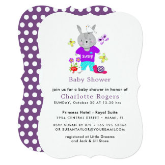 Cute Baby Toy Bunny Rabbit Baby Shower Card