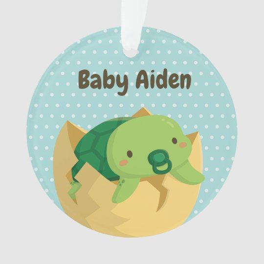 Cute Baby Turtle Newly Hatched Ornament