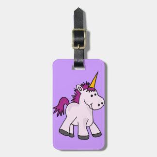 Cute Baby Unicorn Cartoon Luggage Tag