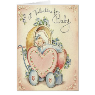 Cute Baby Vintage Valentine's Day Card