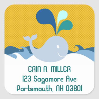 Cute Baby Whale in the Ocean Address Label