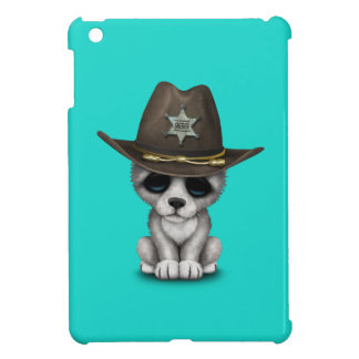 Cute Baby Wolf Sheriff Case For The iPad Mini