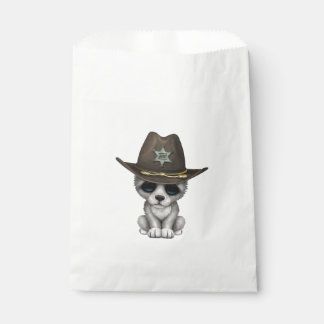 Cute Baby Wolf Sheriff Favour Bag