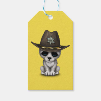 Cute Baby Wolf Sheriff Gift Tags