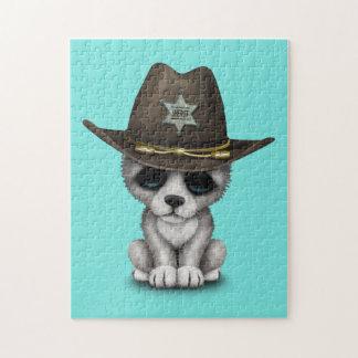Cute Baby Wolf Sheriff Jigsaw Puzzle