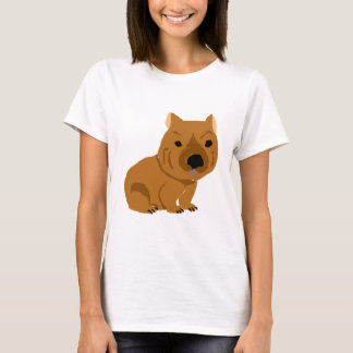 Cute Baby Wombat Design T-Shirt