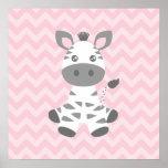 Cute Baby Zebra Print