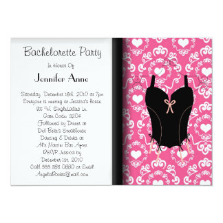 Cute Bachelorette Party 14 Cm X 19 Cm Invitation Card