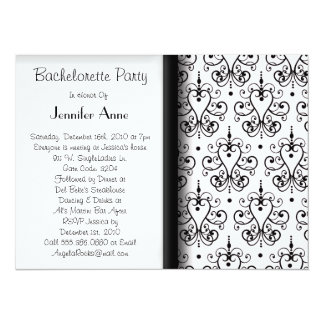 "Cute Bachelorette Party Time 5.5"" X 7.5"" Invitation Card"
