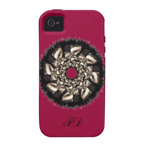 Cute Badger Cubs Fractal iPhone 4 Cover
