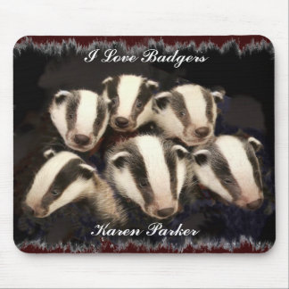 Cute Badger Cubs Mouse Pad